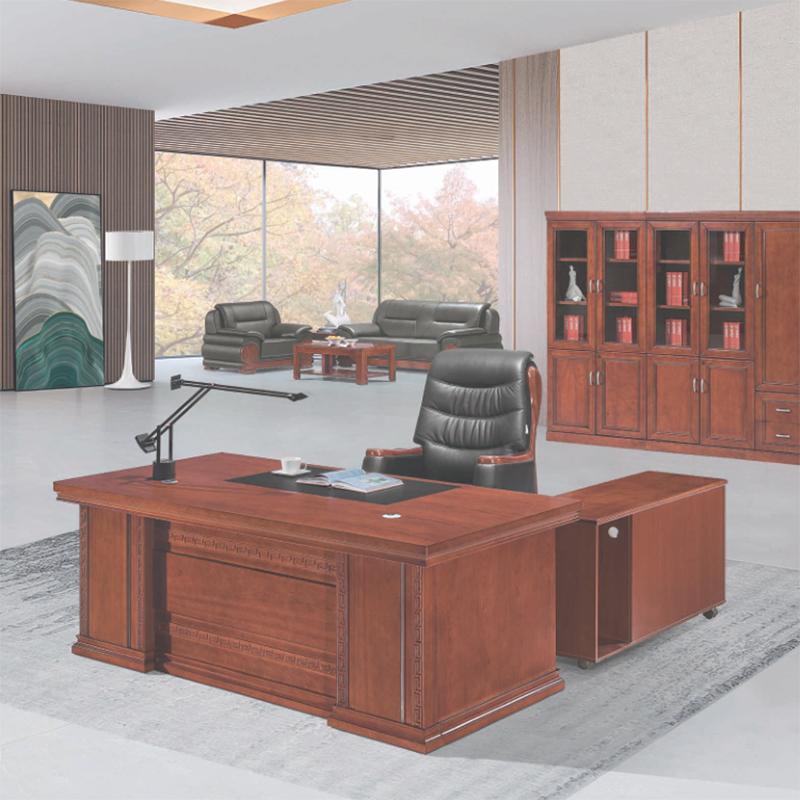圣斯顿D-2277油漆办公桌班台含副柜2200*1050*750mm(单位:张)红胡桃