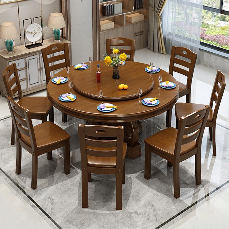 洛克菲勒LK-CZ1818油漆会议桌带转盘1桌8椅?1800*750mm(单位:套)海棠色