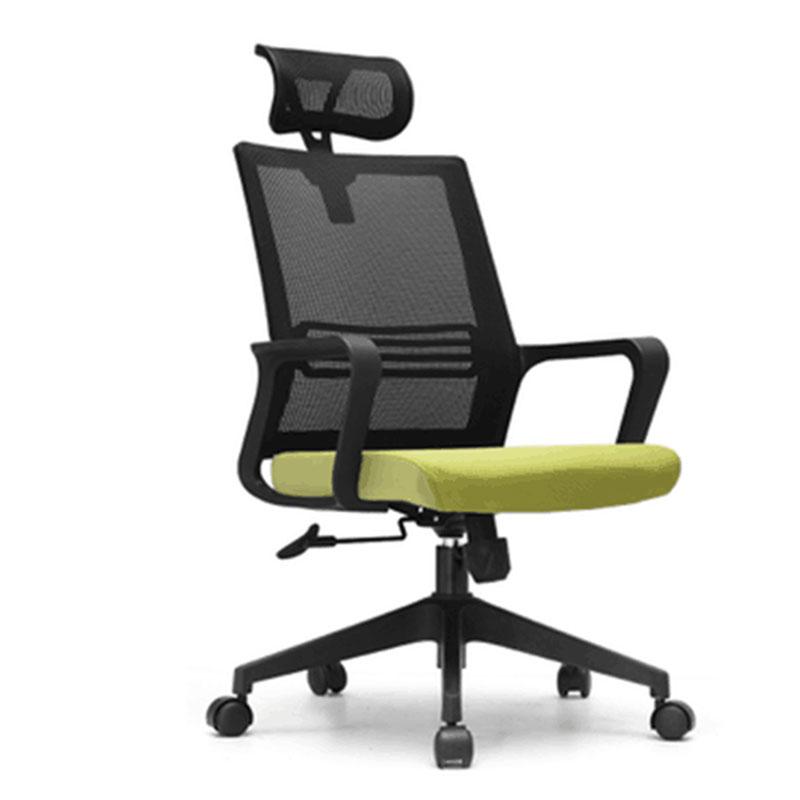 洛克菲勒LK-CH6191A高背黑色网椅主管椅带头枕650*680*1185-1265mm(把)