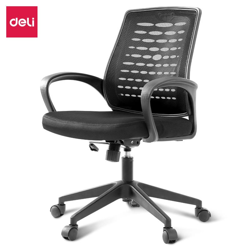得力4901办公椅(黑)(把)
