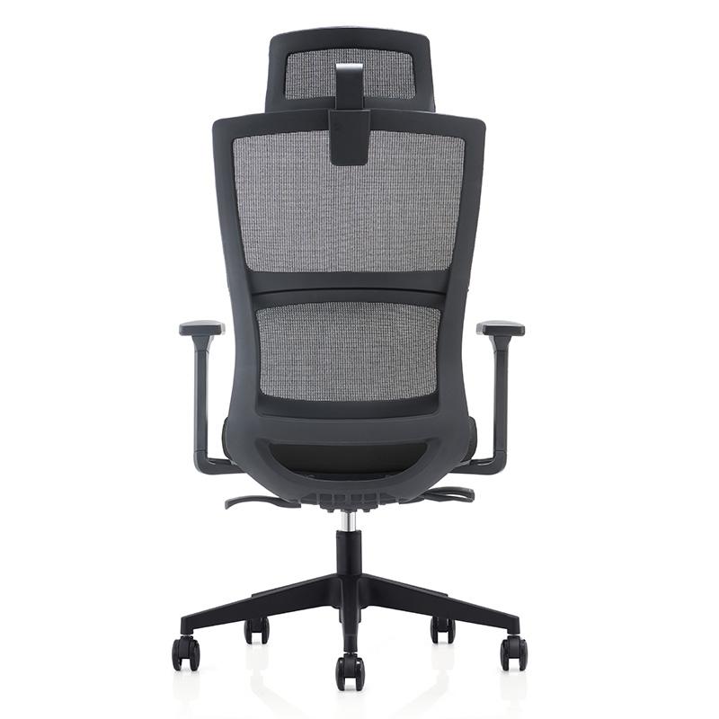 洛克菲勒CH-233A-QW高档人体工学椅网椅黑色670*690*985-1065mm(把)