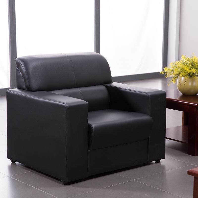 洛克菲勒LK-SF9282BK单人位西皮沙发920*750*820mm(单位:张)黑色