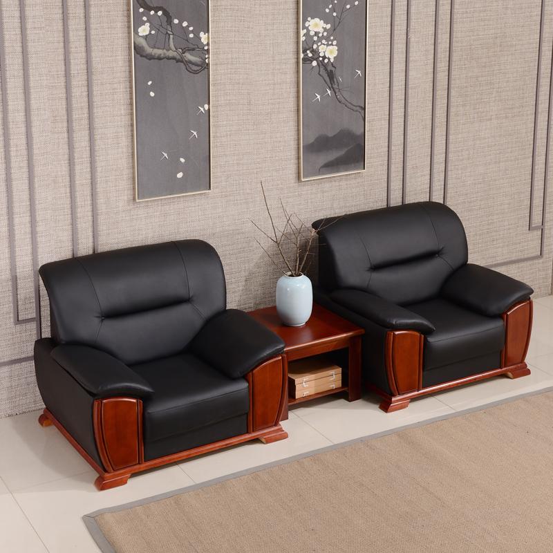 洛克菲勒LK-SF10888BK单人位西皮沙发1080*850*880mm(单位:张)黑色