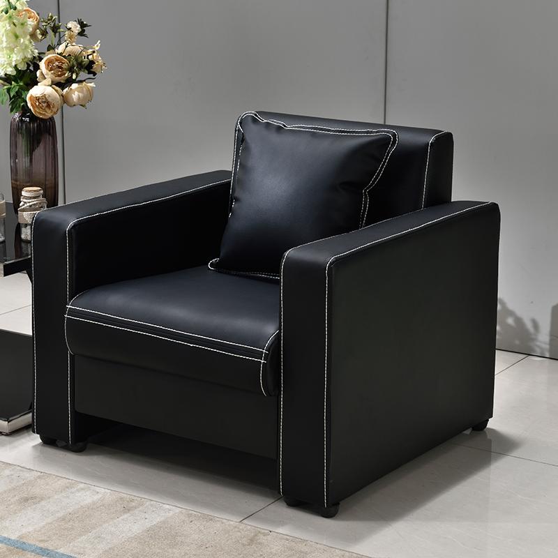 洛克菲勒LK-SF8680BK单人位西皮沙发860*750*800mm(单位:张)黑色