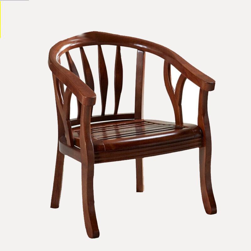 网易严选 原素系列实木围椅(两把)胡桃木色(单位:套)