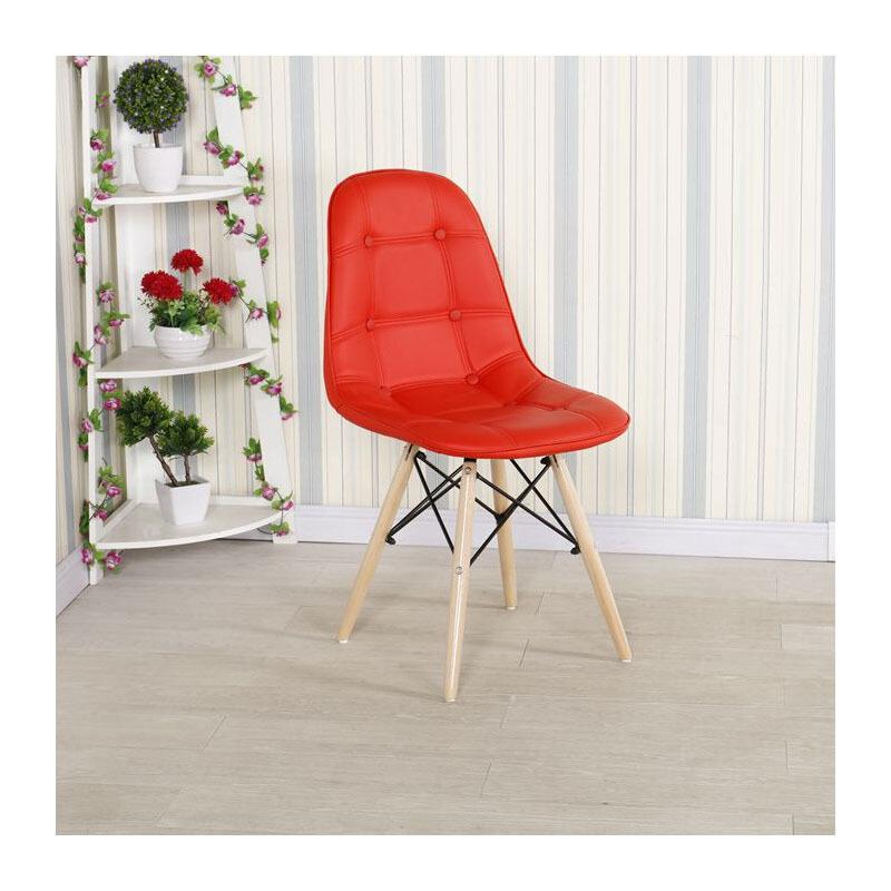 钱柜QG100002666490洽谈椅休闲咖啡椅培训椅家用餐厅餐椅皮面450*300*750mm(把)