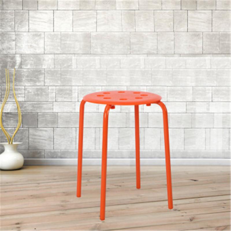 迹邦塑料多功能凳子橙色塑料圆凳(把)
