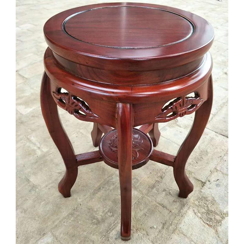 洛克菲勒LK-3045-HM实木鼓凳圆凳300*300*450mm(单位:个)红胡桃色