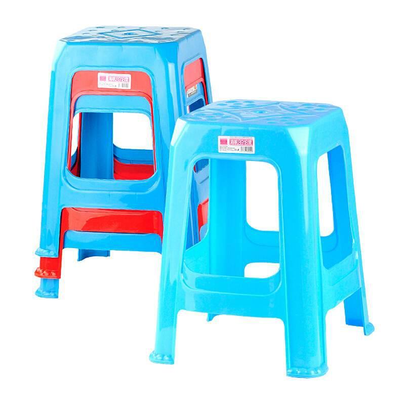 禧天龙塑料板凳彩色高23.2cm(张)