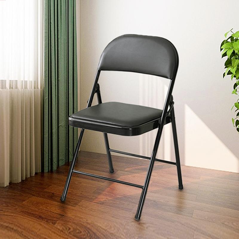工来工往ZDY06折叠椅黑色折叠椅会议椅皮椅75*45*45cm(把)