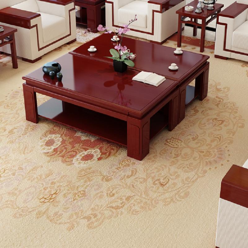 裕港400*680*500现代简约正方型小角几会客厅中式摆件木茶几办公会客沙发配套(单位:张)