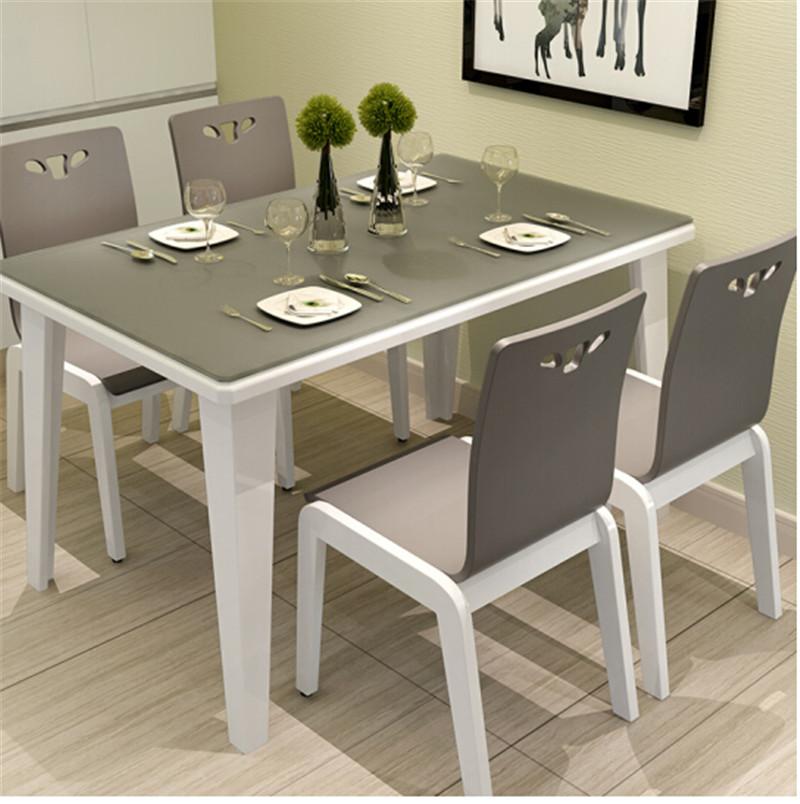 六方家私 实木餐桌椅套装 1.3米一桌四椅(套)