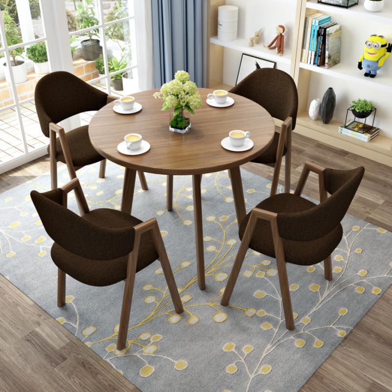 钱柜QG2021063002洽谈桌椅组合谈判圆桌颜色可选一桌四椅(套)