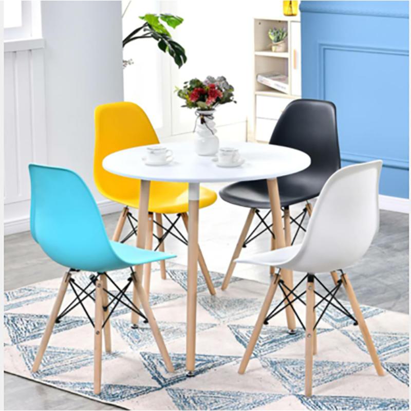 圣斯顿SD-QT0880简约洽谈桌+四把椅子(套) 白色