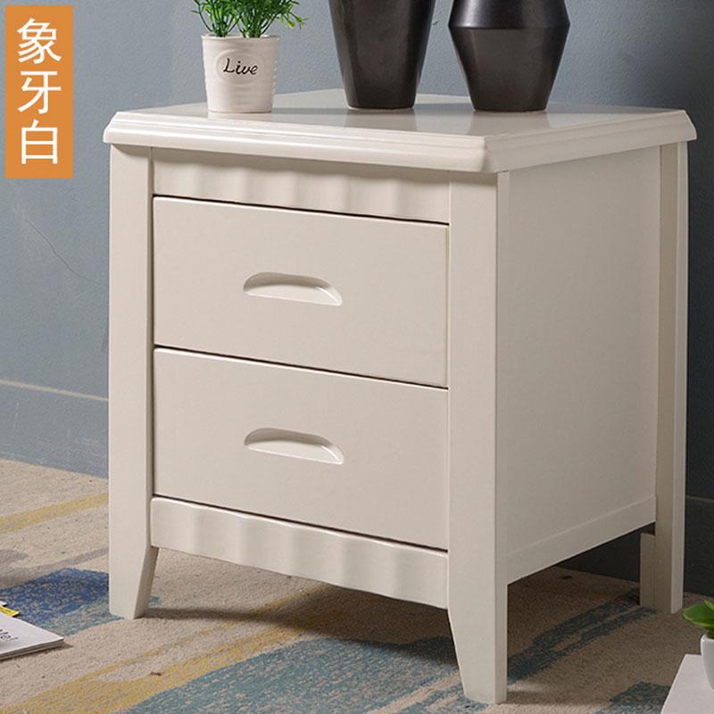 钱柜QG2021041203简约床头柜48*39*50cm白色或榉木色(个)