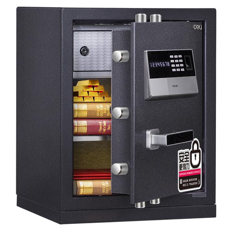 得力4071指纹密码保管箱(银灰)(单位:台)