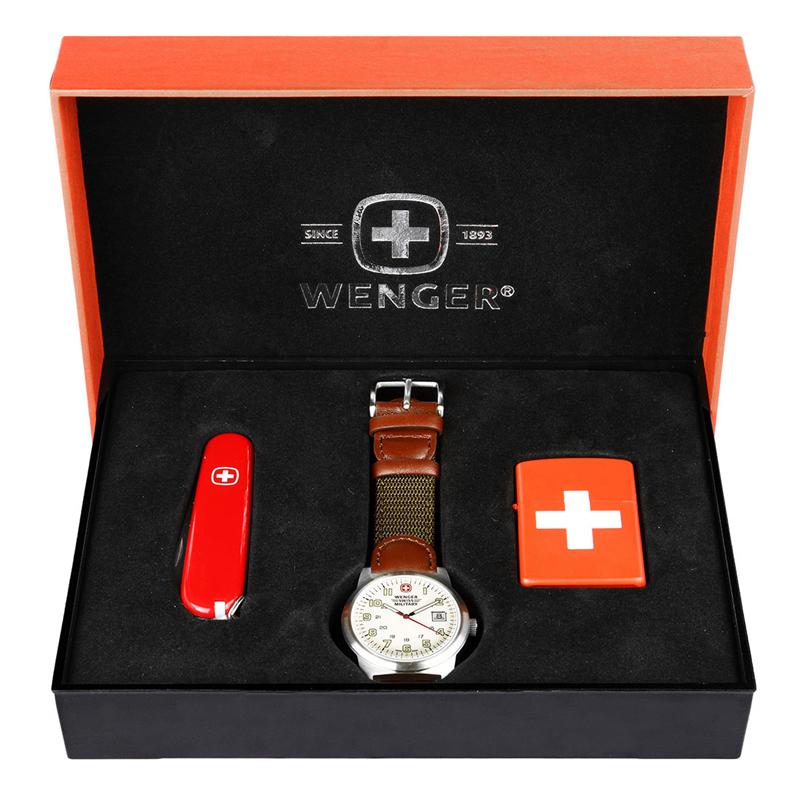 威戈 SR000901 瑞士军刀手表套装礼盒瑞士军表+瑞士军刀+刀套 (单位:盒)