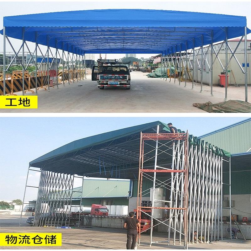 博采大型推拉帐篷 移动式 汽车遮阳棚收缩停车棚(顶)