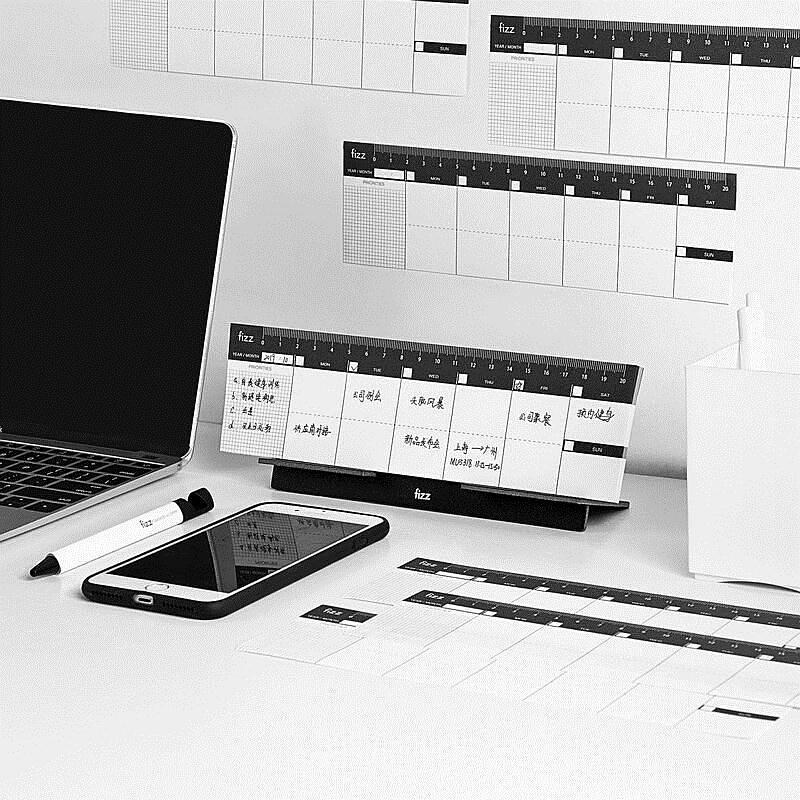 飞兹(fizz)日历多功能可撕款 小台历办公桌面  pp材质挂历备忘录 FZ335014(单位:本)
