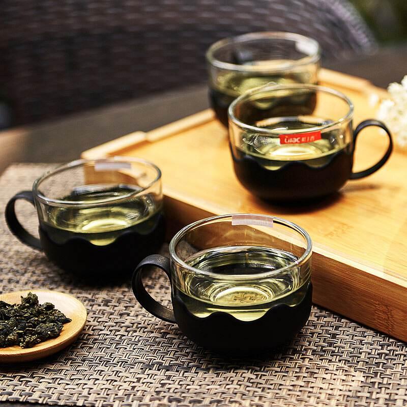 紫丁香WG72耐热玻璃过滤茶具套装(壶700ml*1 茶杯*4)(套)