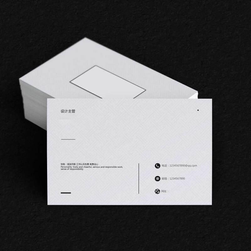 国产定制名片(单面)(单位:盒)