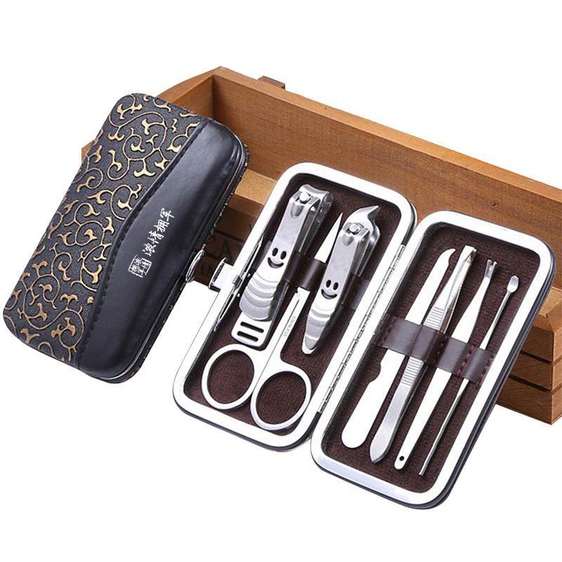 忒爱HW1384 定制不锈钢7件套指甲钳套装 起订量300(单位:套)